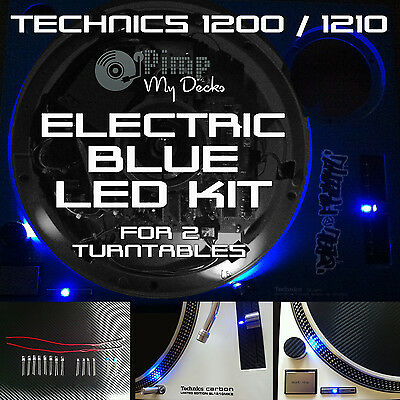 TECHNICS 1200 1210 COMPLETE ELECTRIC BLUE LED KITS X 2