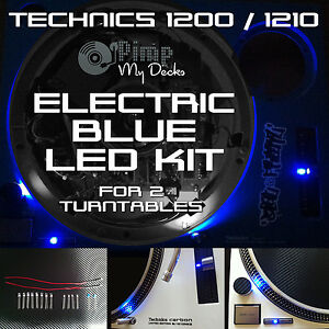TECHNICS 1200 1210 COMPLETE ELECTRIC BLUE LED KITS X 2