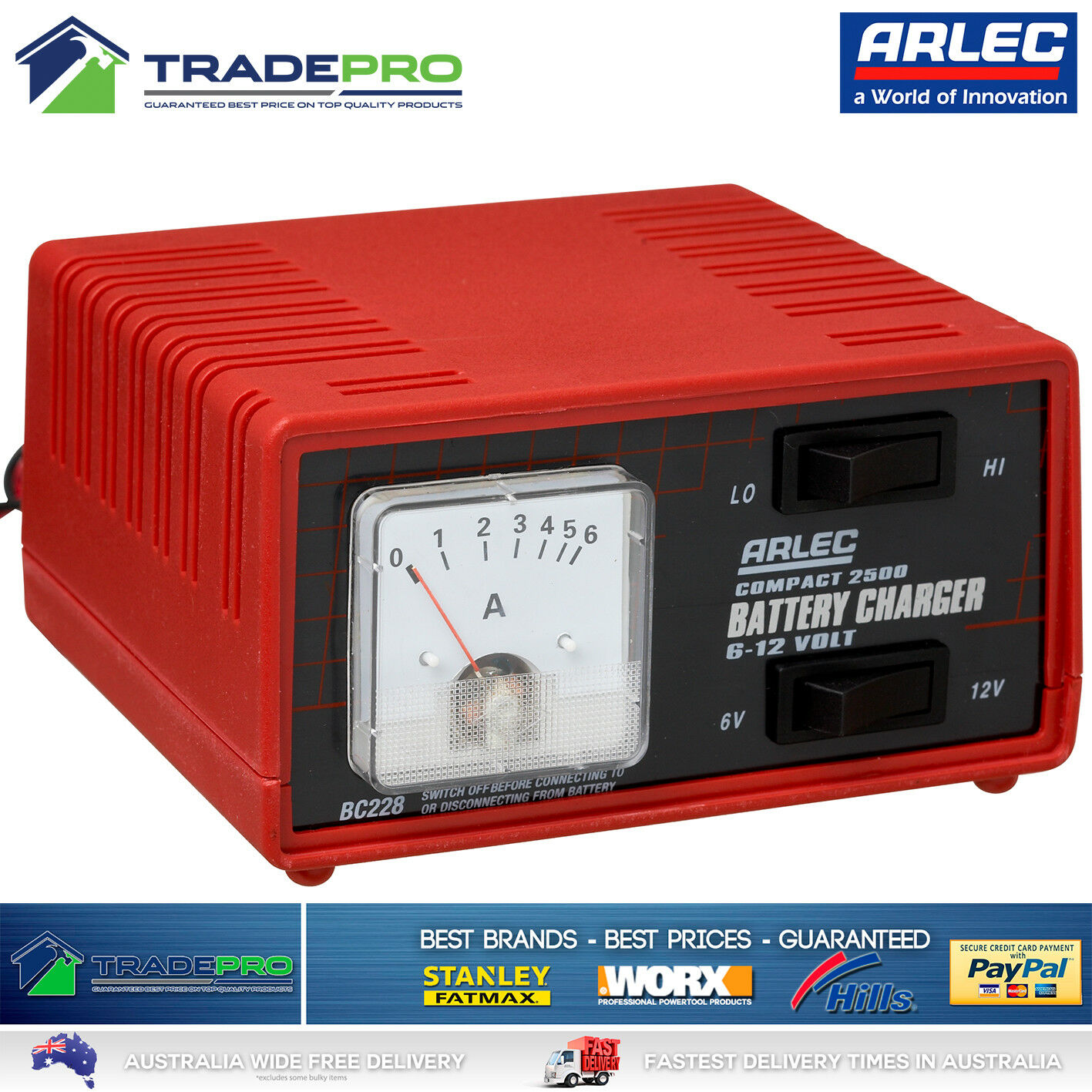 Genuine Arlec Battery Charger Pro 6 12v 25 Amp Auto Car Bike E Circuit Diagram Trickle Charge