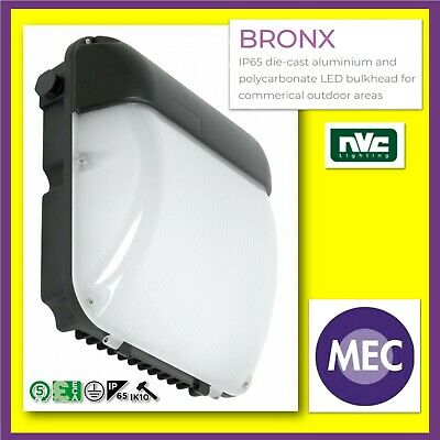NVC BRONX NBX30SL/LED/PEC/840 WALL PACK, COOL WHITE WITH PHOTOCELL!!