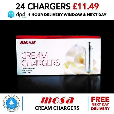 MOSA Whipped Cream Chargers N2O NOS Nitrous Oxide Gas NEXT DAY DELIVERY