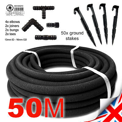 50m // POROUS PIPE Soaker Hose Leaky Pipe Garden Irrigation System - SPECIAL SET