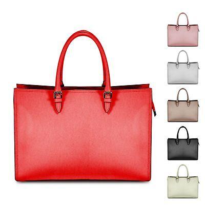 Ladies Executive Italian Leather Work Handbag Briefcase Shoulder Bag MLE-1025 - Italian Leather Ladies Briefcase