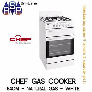 CHEF 54CM FREESTANDING GAS COOKER WITH SEPARATE GRILL - CFG503WA Coburg North Moreland Area Preview