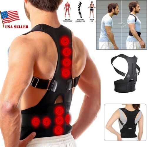 Magnetic Posture Corrector Support Back Shoulder Brace Belt For Men and Women Health & Beauty
