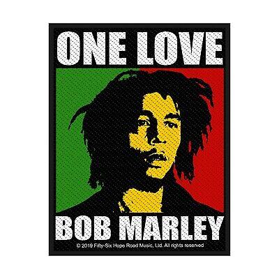 BOB MARLEY PATCH / AUFNÄHER # 13 ONE LOVE 10x8cm Bob Patch