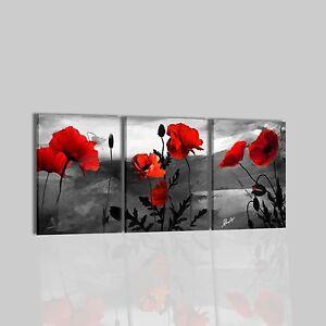 Quadri moderni astratti dipinti a mano su tela grigio for Quadri moderni fiori dipinti a mano