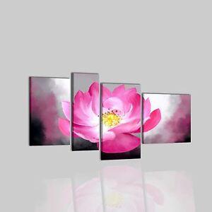 Quadri moderni astratti dipinti a mano olio su tela fiore for Dipinti a mano su tela