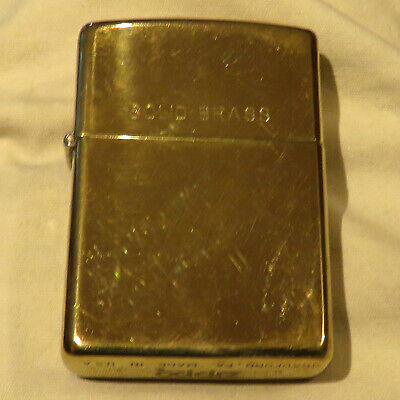 POLISHED BRASS ZIPPO LIGHTER D X