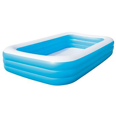 "Large Inflatable Family Rectangular 10ft x 6ft x 22"" Garden Swimming Pool 54009"
