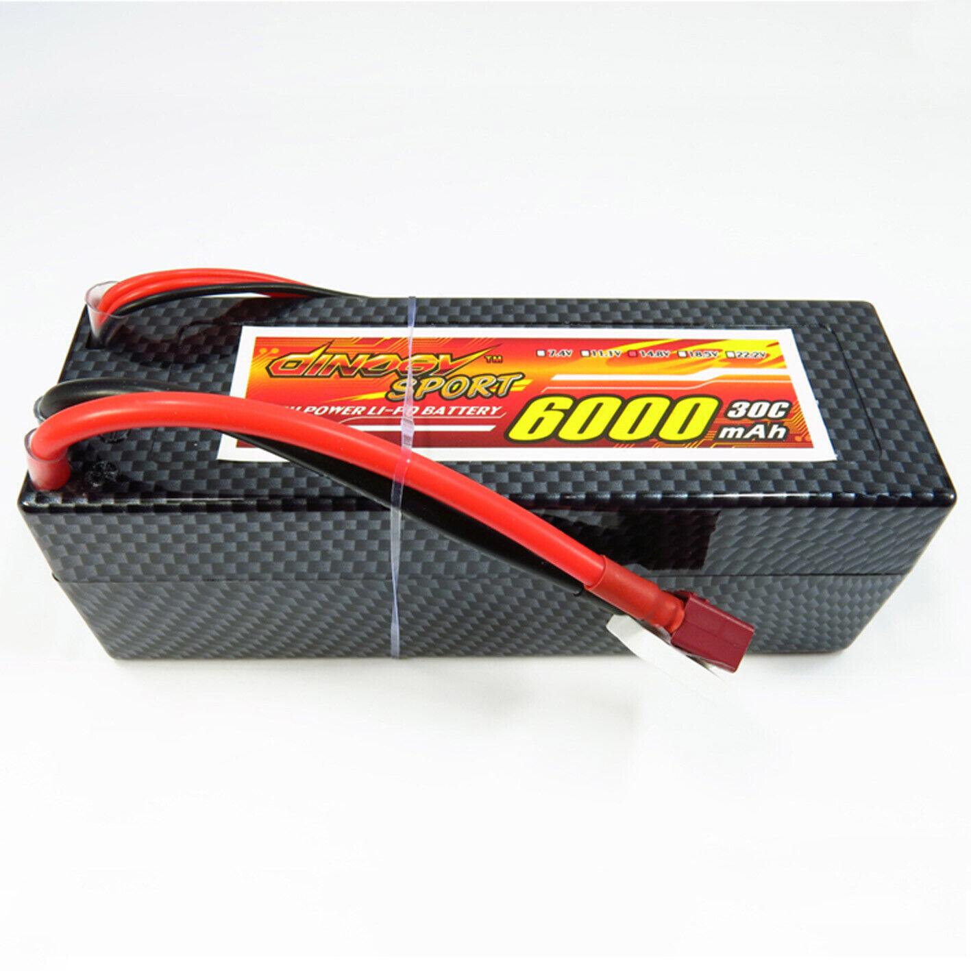 14 8V 4S 6000mAh 30C T plug LiPO Battery Hardcase for RC Buggy Car