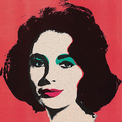 ANDY WARHOL STYLE  LIZ pop art  print large 60cm
