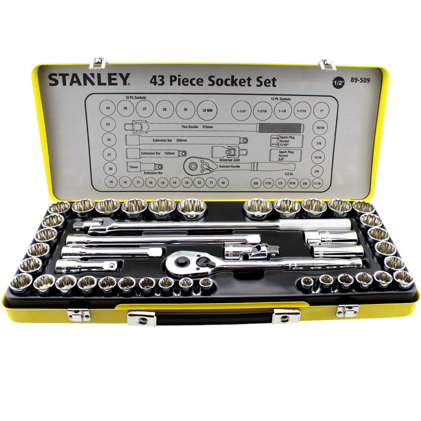 """NOUVEAU Stanley 26 mm Socket 1//2/"""" DRIVE 12 Point Maxi Drive Chrome Vanadium Acier"""