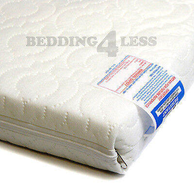 Baby Cot Bed MATTRESS QUILTED AntiAllergenic with Water Resistant Cover ALL SIZE