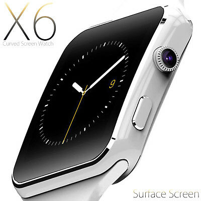 SMARTWATCH OROLOGIO iPhone ANDROID IOS CON SIM BLUETOOTH SMART WATCH X6 BIANCO