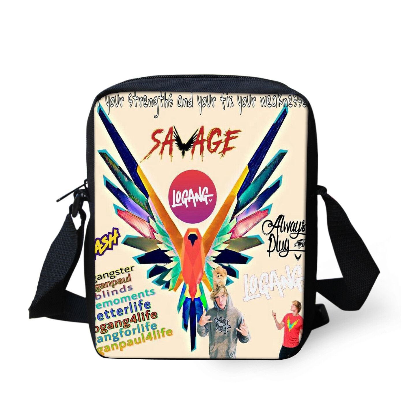 LOGANG BACKPACK BAG RUCKSACK  YOUTUBER LOGAN PAUL JAKE TEAM 10 MAVERICK SCHOOL