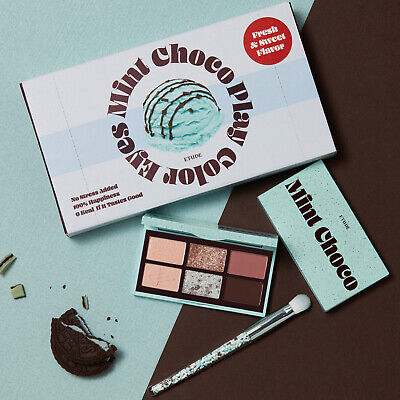 ETUDE Play Color Eyes Mini Mint Choco Special Kit Shadow 6g + Brush K-Beauty