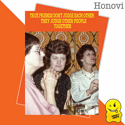 Funny Birthday Card Vintage Classic Adult Humour 1970's - Judge peopleHON09