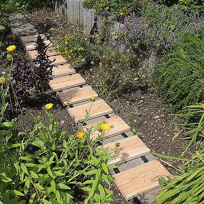 Rollweg Lärche 25 x 250 cm, Gartenweg Holztritte Gehwegplatten Terrassendielen