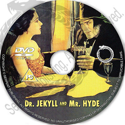DR JEKYLL AND MR HYDE 1920 Drama Horror Movie Film on DVD Region free Halloween - Films On Halloween