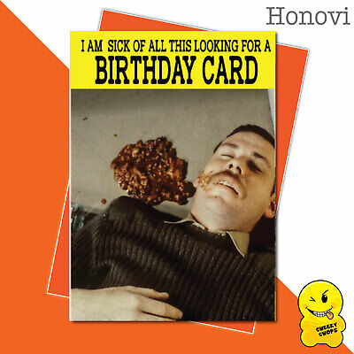 Funny Birthday Card Vintage Classic Adult Humour 1970's - I'm Sick - HON15
