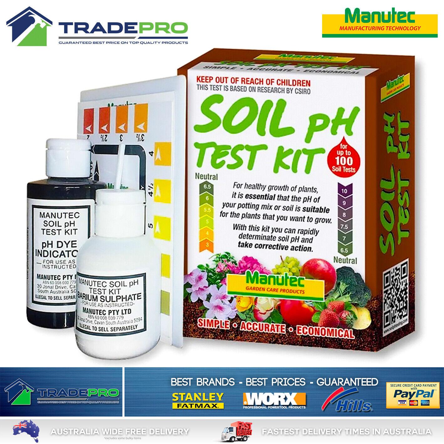 Details about PH Soil Test Kit Manutec Pro Quality up to 9 Tests Garden  Testing Tester Set