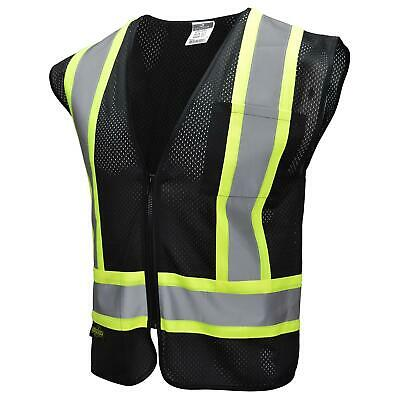 Radians Type O Class 1 Reflective Mesh Safety Vest Black