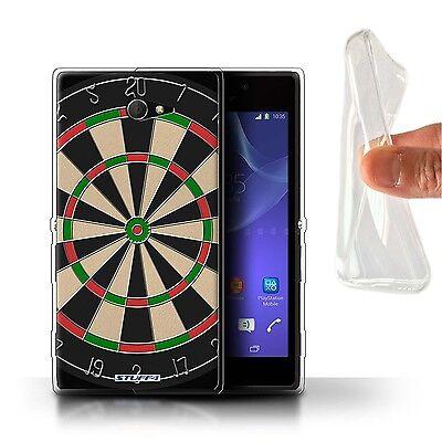 Stuff4 Gel/TPU Hülle für Sony Xperia M2/Darts/Dartpfeile/Spiele