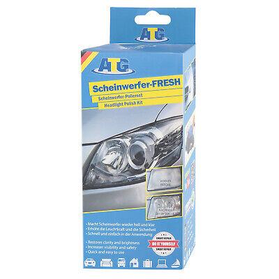 ATG Scheinwerfer Reparatur Aufbereitung Politur Polierset Pflegeset + UV-Schutz
