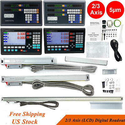 Lcd Digital Readout Encoder Dro Ttl Linear Scale For Milling Lathe 23 Axis