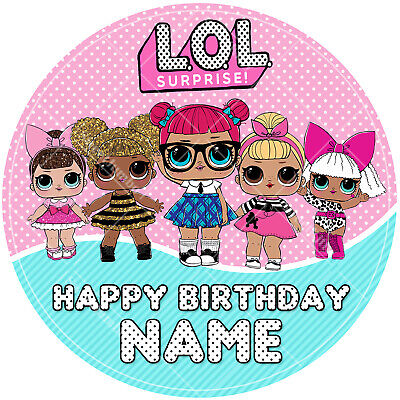 LOL Dolls Cake Topper Personalised Printed on Icing