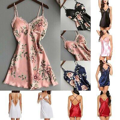 Sexy-Lingerie-Women-Silk-Lace-Robe-Dress-Babydoll--Nightgown-Sleepwear panties