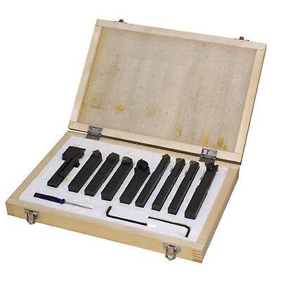 Dreheisenset 9 tlg. mit Wendeschneidplatten  Drehmeisel 10 mm Schaft
