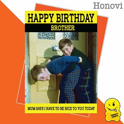 Funny Birthday Card Vintage Classic Adult Humour 1970's - BrotherHON18