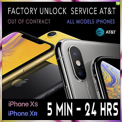Factory Unlock Code Service IMEI AT&T for iPhone XS XR X 8 8+7 6 fast 5m - 24hrs