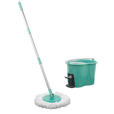 CLEANmaxx Power Wischmop 2 Kammer Filtersystem Mops Set Wischen Eimer Boden Mopp