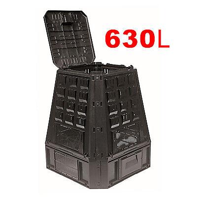 630L__ECO Black COMPOSTER Friendly Soil Rubbish Waste Recycle COMPOST BIN Garden