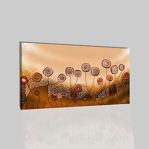 Quadri moderni astratti dipinti a mano olio su tela beige for Quadri moderni fiori dipinti a mano