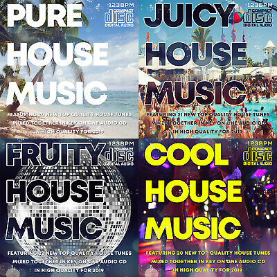 NEW HOUSE MUSIC CDs 4 DJ mixed CD PACK COLLECTION 2019 THE BEST NEW CLUB (Best Club House Music)