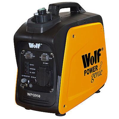 Wolf 800w 2.6HP 4 Stroke Petrol Inverter Suitcase Generator 240v 12v