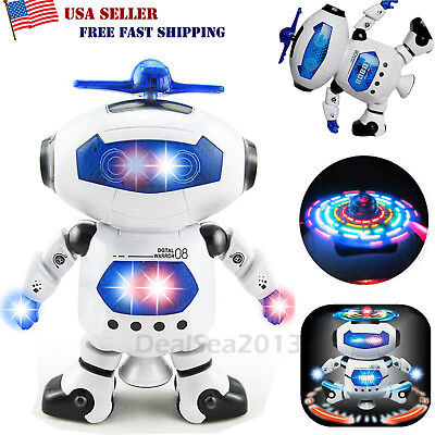 Robot Toys For Kids (Toys For Boys Robot Kids Toddler Robot Dancing Musical Toy Birthday Xmas)