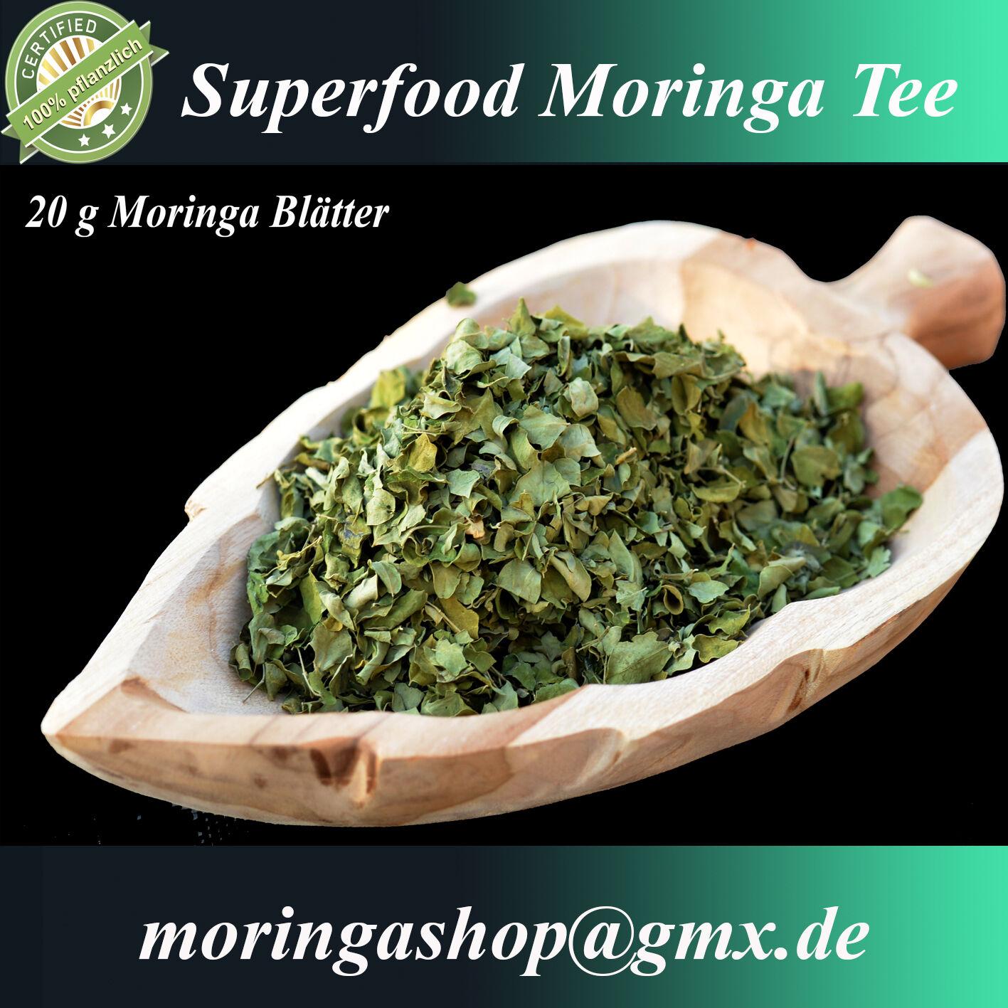 1000 g Moringa Tee - getrocknete Moringablätter, 1A Premium Rohkostqualität