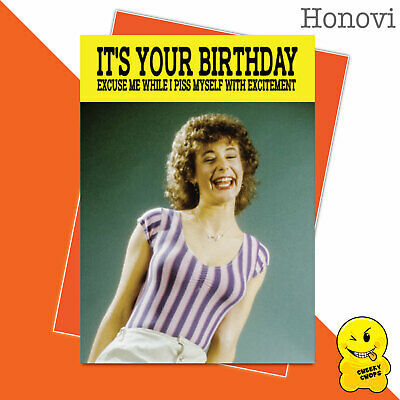 Funny Birthday Card Vintage Classic Adult Humour 1970's - ExcitementHON01