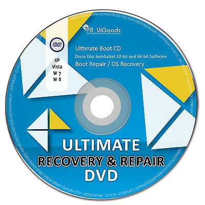 Ultimate Boot & Repair CD/DVD✔ Windows 10 / 8 / 7 / XP✔ Bootfähig✔ Notfall CD✔ ()