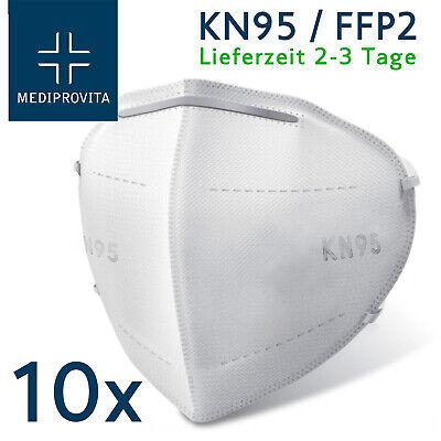 Atemschutzmaske FFP2 KN95 Maske Mundschutz Atemschutz Viren Bakterien 10x Stück