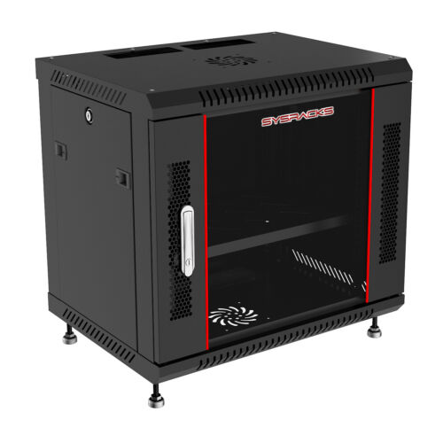 "12U 24"" Deep Wall Mount IT Network Server Rack Cabinet FREE ACCESSORY Open Box"