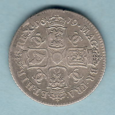 Great Britain. 1679 Charles 11 - Shilling.. aFine