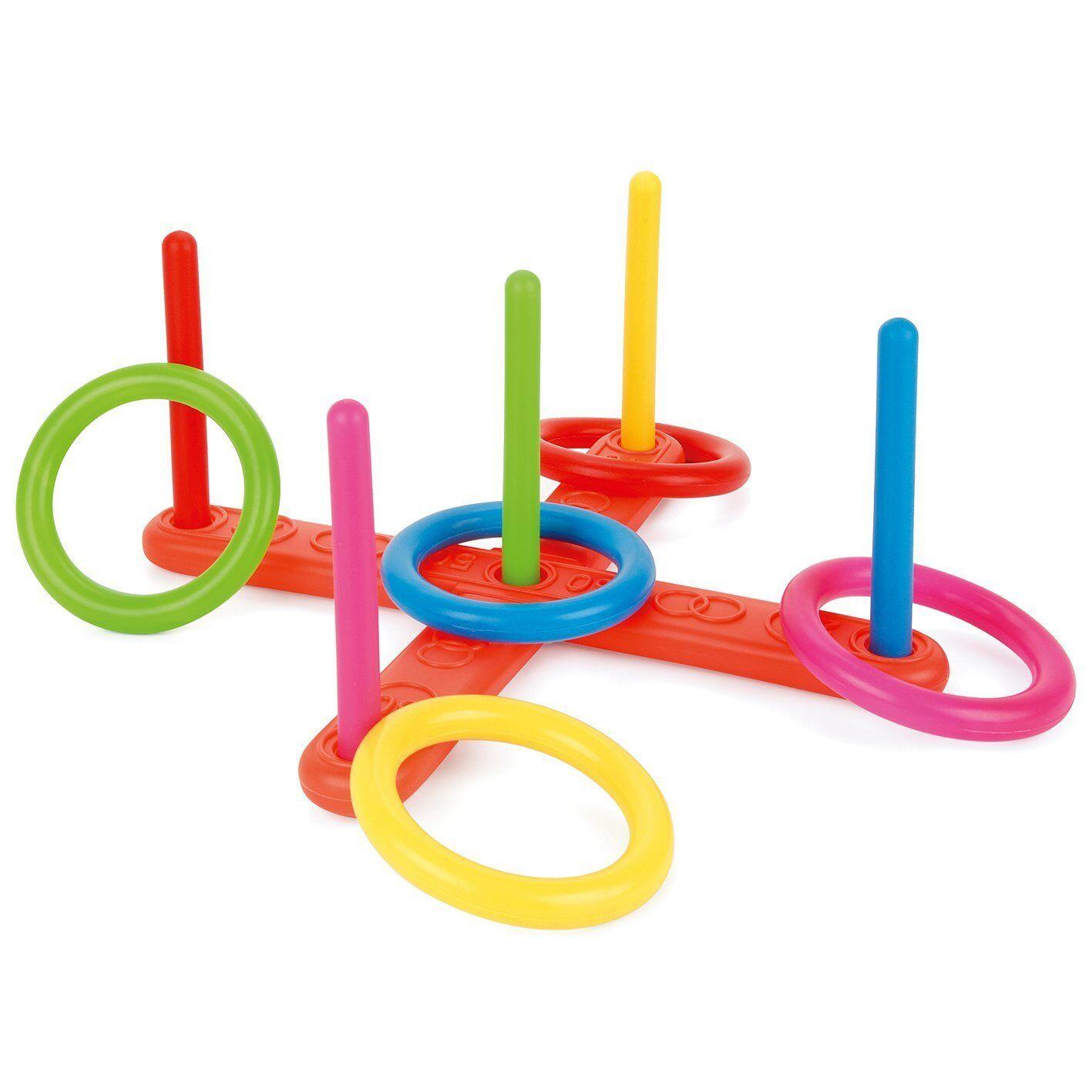 Dettagli su Bambini Bambini Plastica Anelli Giardino Estate Gioco Giocattolo Divertente Hoop Gettare Set mostra il titolo originale
