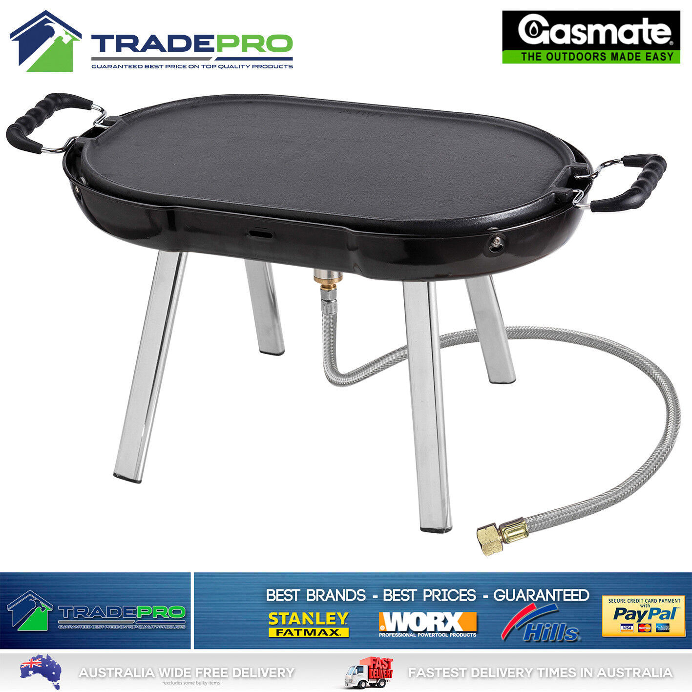 Portable BBQ Gas Barbecue Outdoor Camping PRO Grill Caravan Cooker
