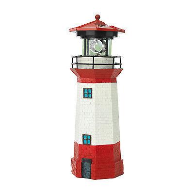 Solar Leuchtturm Strandlicht LED Leuchtfeuer Leuchte Solar maritime Deko Garten